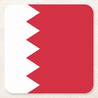 Bandera de Bahrein Posavasos De Papel Cuadrado