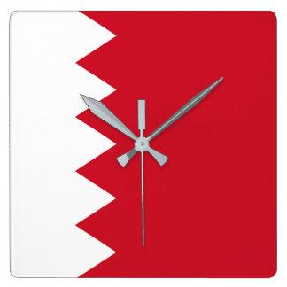 Bandera de Bahrein Reloj Cuadrado