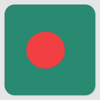 Bandera de Bangladesh Pegatina Cuadrada
