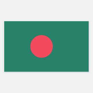 Bandera de Bangladesh Pegatina Rectangular
