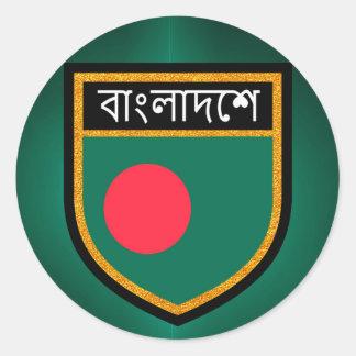 Bandera de Bangladesh Pegatina Redonda