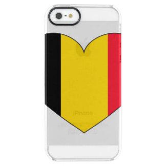 Bandera de Bélgica simple Funda Transparente Para iPhone SE/5/5s
