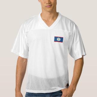 Bandera de Belice Camiseta De Fútbol Americano Para Hombre