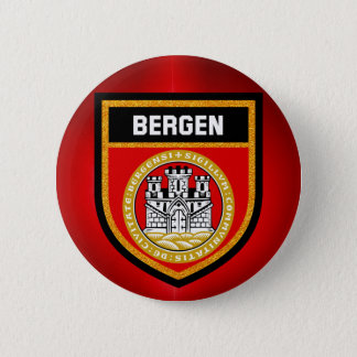 Bandera de Bergen Chapa Redonda De 5 Cm