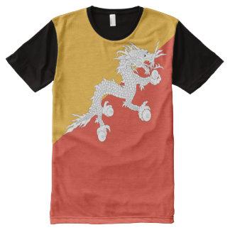 Bandera de Bhután llena Camiseta Con Estampado Integral