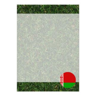 Bandera de Bielorrusia en hierba Invitación 12,7 X 17,8 Cm