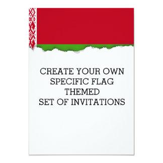Bandera de Bielorrusia Invitación 12,7 X 17,8 Cm