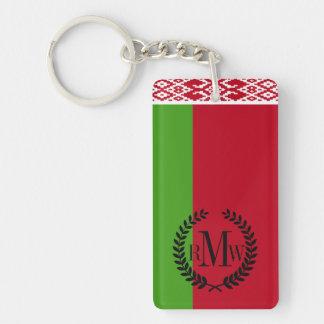 Bandera de Bielorrusia Llavero Rectangular Acrílico A Doble Cara
