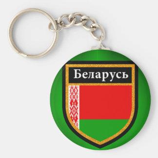 Bandera de Bielorrusia Llavero Redondo Tipo Chapa