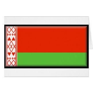 Bandera de Bielorrusia Tarjeta De Felicitación