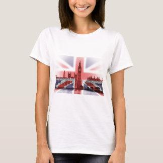 Bandera de Big Ben Londres y de Union Jack Camiseta