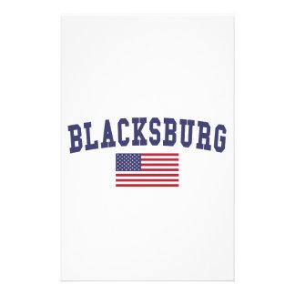 Bandera de Blacksburg los E.E.U.U. Papelería