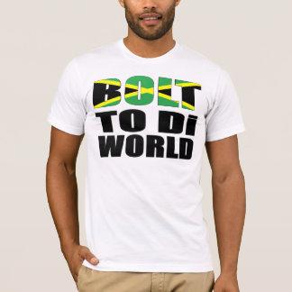 Bandera de Bolt To Di World Jamaican Camiseta