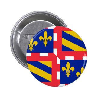 Bandera de Borgoña Francia Pin
