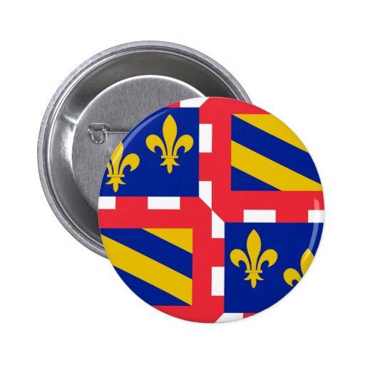 Bandera de Borgoña (Francia) Pin