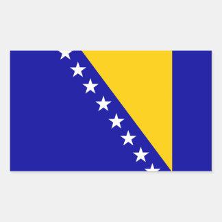 Bandera de Bosnia y Hercegovina Pegatina Rectangular