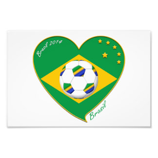 Bandera de BRASIL FÚTBOL del mundo equipo nacional Impresiones Fotograficas