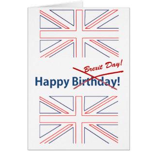 Bandera de Brexit Británicos Tarjeta