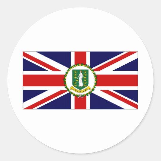Bandera de British Virgin Islands Pegatina Redonda