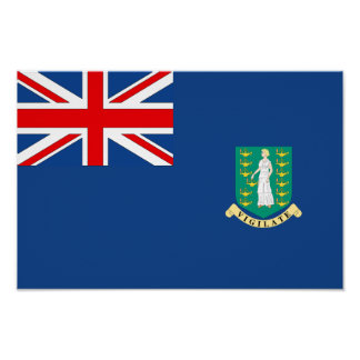 Bandera de British Virgin Islands Póster