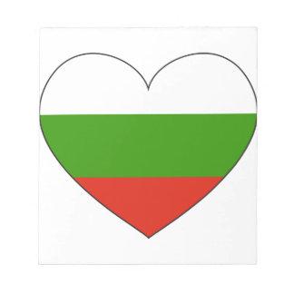 Bandera de Bulgaria simple Bloc De Notas