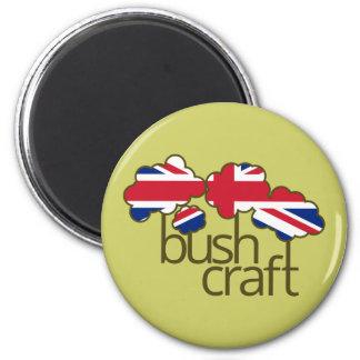 Bandera de Bushcraft Reino Unido Iman De Frigorífico