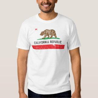 Bandera de California del vintage Camiseta