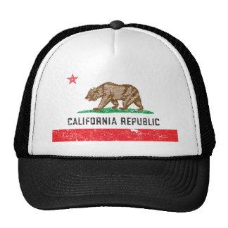 Bandera de California del vintage Gorros