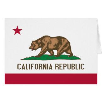 Bandera de California Tarjeta De Felicitación
