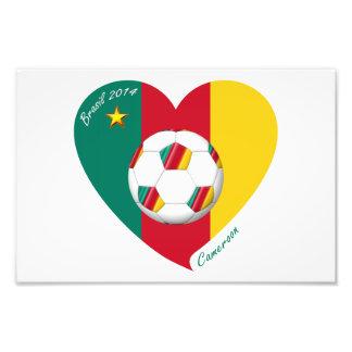 Bandera de CAMERÚN FÚTBOL de equipo nacional 2014 Arte Con Fotos