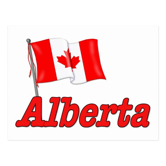 Bandera de Canadá - Alberta Postal