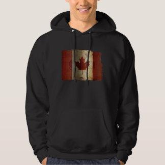 Bandera de Canadá/del Grunge… Sudadera