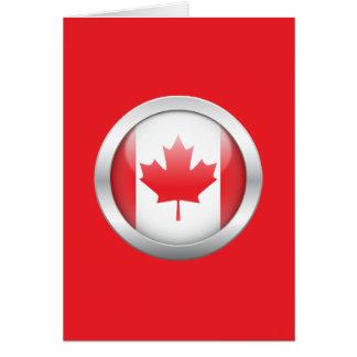 Bandera de Canadá en orbe Tarjeta