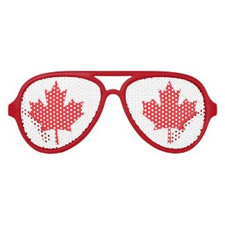 Bandera de Canadá Gafas De Fiesta De Aviador