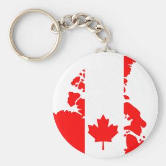 Bandera de Canadá Llavero Redondo Tipo Chapa