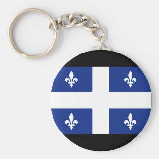 Bandera de Canadá Quebec Llavero Redondo Tipo Chapa