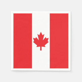 Bandera de Canadá Servilletas Desechables