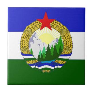 Bandera de Cascadia socialista Azulejo De Cerámica