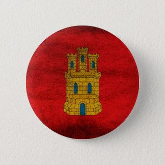 Bandera de Castilla Pin Chapa Redonda De 5 Cm