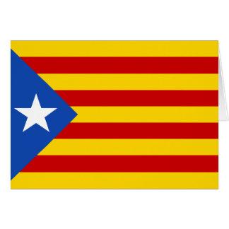 Bandera de Cataluña Tarjeta De Felicitación