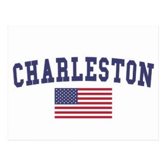 Bandera de Charleston WV los E.E.U.U. Postal