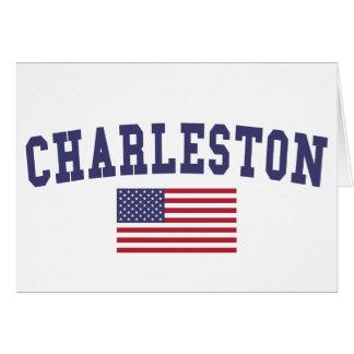 Bandera de Charleston WV los E.E.U.U. Tarjeta De Felicitación