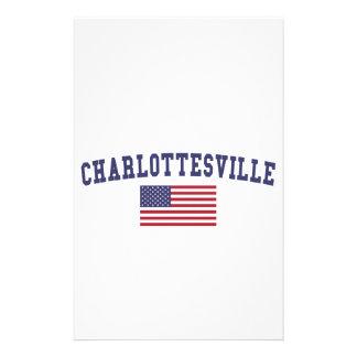 Bandera de Charlottesville los E.E.U.U. Papelería Personalizada