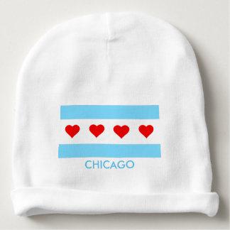 Bandera de Chicago con la gorrita tejida del bebé Gorrito Para Bebe