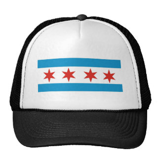 bandera de Chicago Gorros