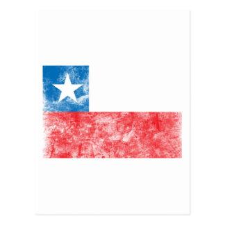 Bandera de Chile del vintage Postal