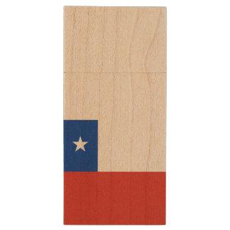 Bandera de Chile Memoria USB De Madera