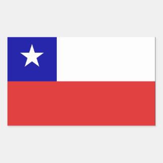 Bandera de Chile Pegatina Rectangular