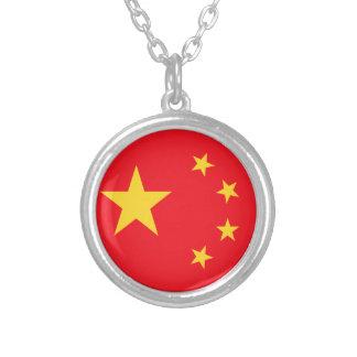 Bandera de China Collar Plateado