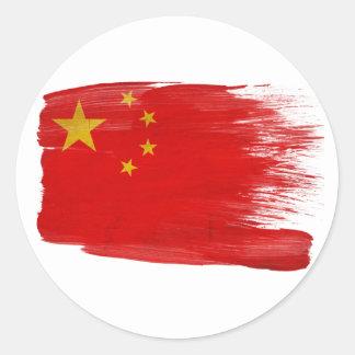 Bandera de China Pegatinas Redondas